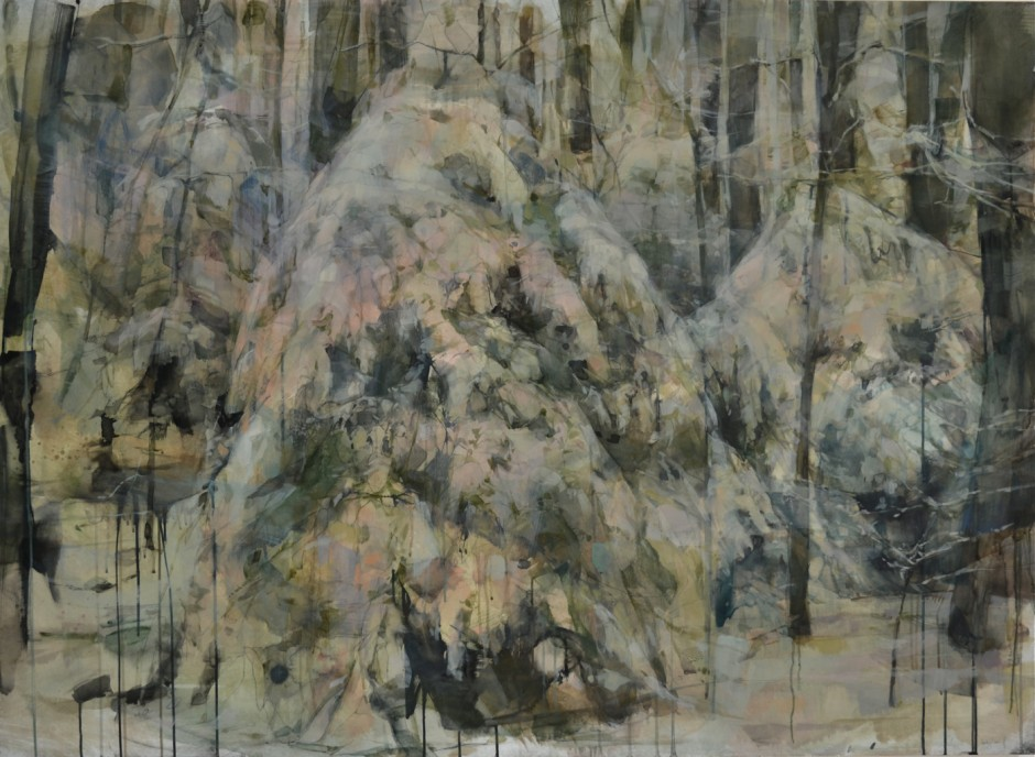American Cedar, 48x66, oil and ink on panel, 2012 copy