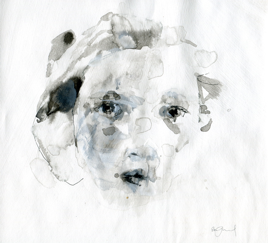 may11, 6 x 6.5, ink and gesso, 2009